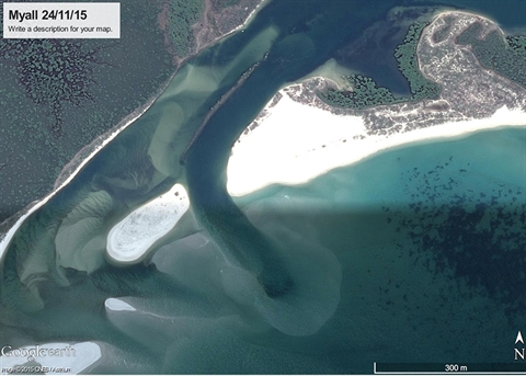 Winda Woppa aerial view post dredge